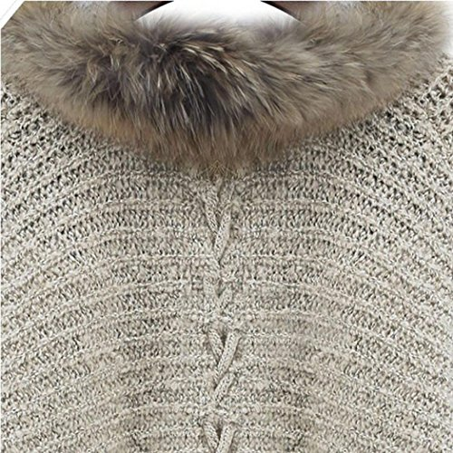 Ouneed® Femme Fouree Gilet Tricote -75cm Longueur