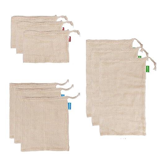 BESTonZON 10 unids Bolsas de Malla de algodón Reutilizable ...