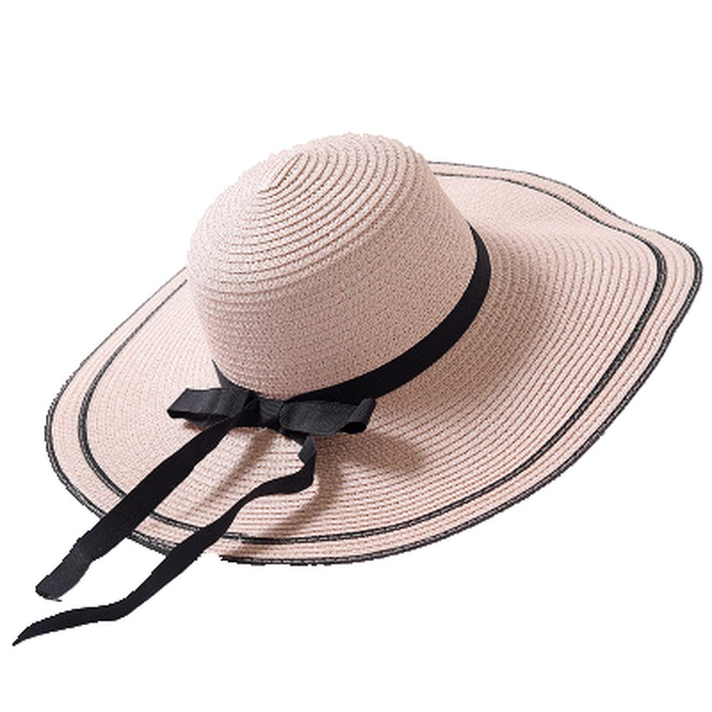 Fashion Summer Hat Women Outdoor Large Beach Straw Sun Hat for Travel Vacation