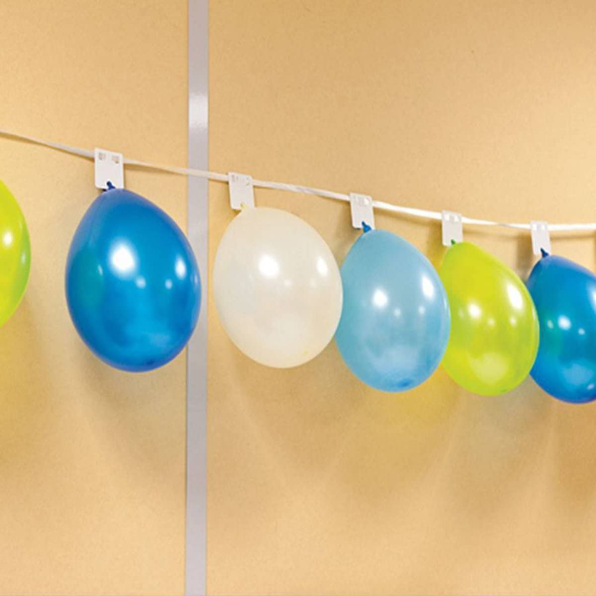 8 M Visiodirect Guirlande Support Coloris Blanc pour 24 Ballons