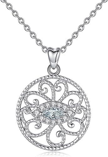 Elegante Silber Überzogene Kreuz Anhänger Kette Halskette Für Mädchen Schmuck ba