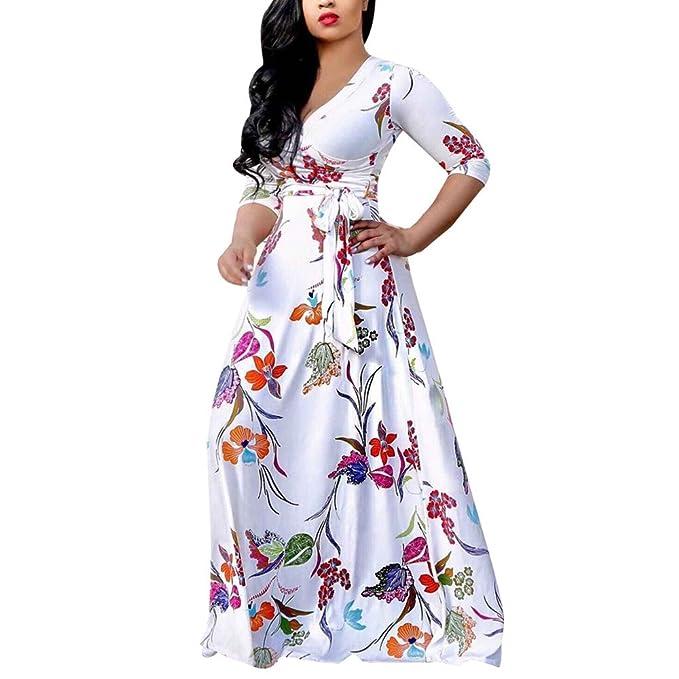 Ears Frauen KleidKleid Damen Plus Size Sexy Loose Dress V-Ausschnitt ...