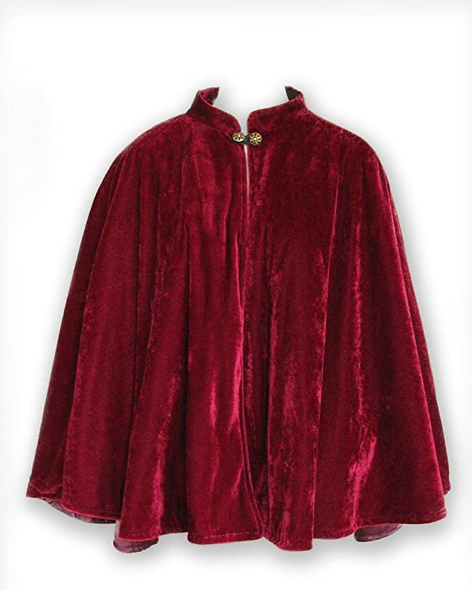Victorian Wraps, Capes, Shawl, Capelets Velvet Circular Cut Half Cloak Capelet Lined in Satin with two-button clasp $54.99 AT vintagedancer.com