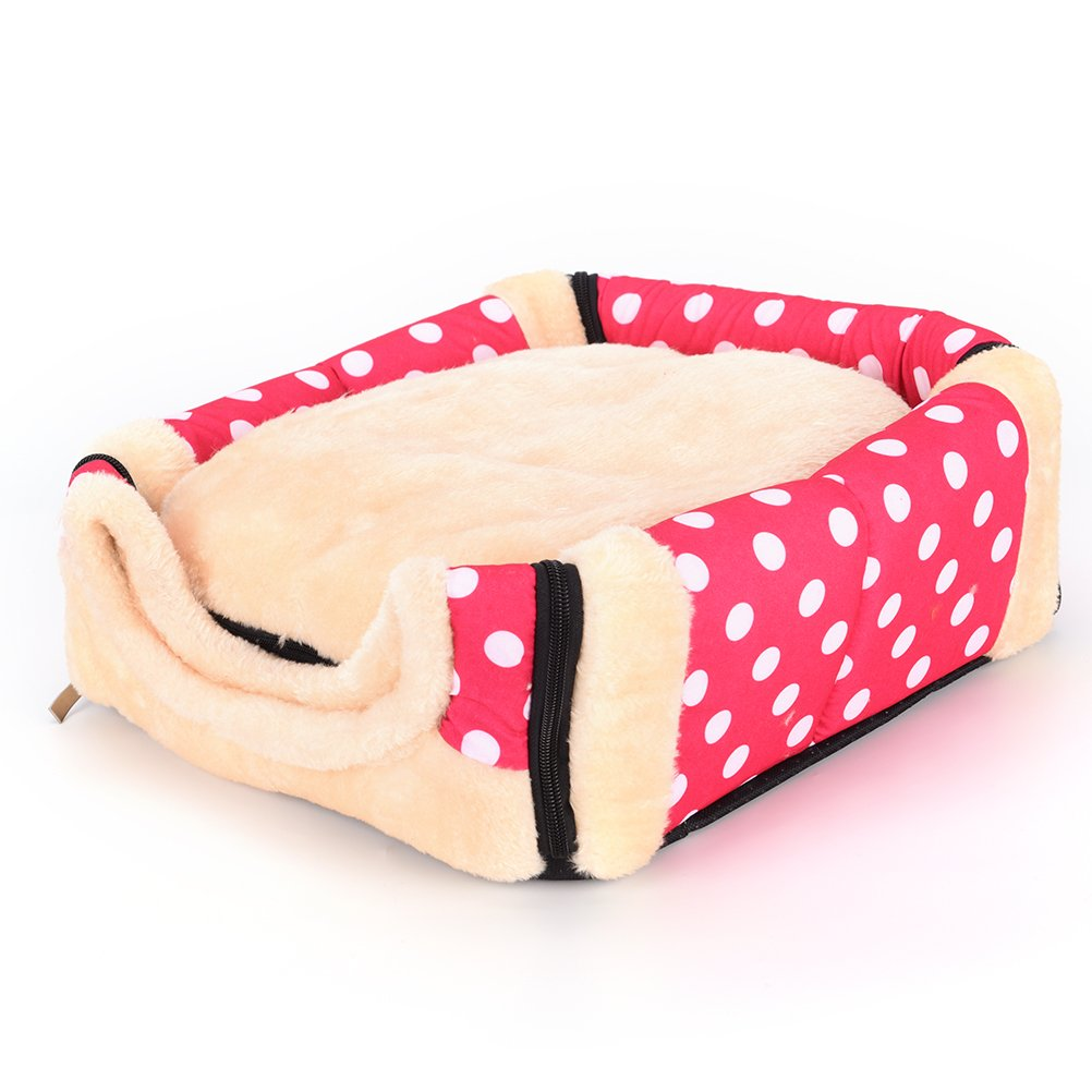 1 Pc Foldable Animal Sleep Bed Kennel Mat Pad Cushion Hanging Cozy Pet House Cage Hammock Cave Hut Winter Warm Nest Tent for Dog Cat Parrot Chinchilla Hamster Guinea Pig Rabbit Squirrel Hedgehog Rat by WWahuayuan (Image #3)