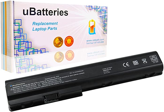 UBatteries Compatible 63Whr Battery Replacement for HP Pavilion dv7-3186cl dv7-3187cl dv7-3188cl dv7t-1000 dv7t-1100 dv7t-1200 dv7t-2000 dv7t-2200 dv7t-3000 dv7t-3300-4400mAh, 8 Cell