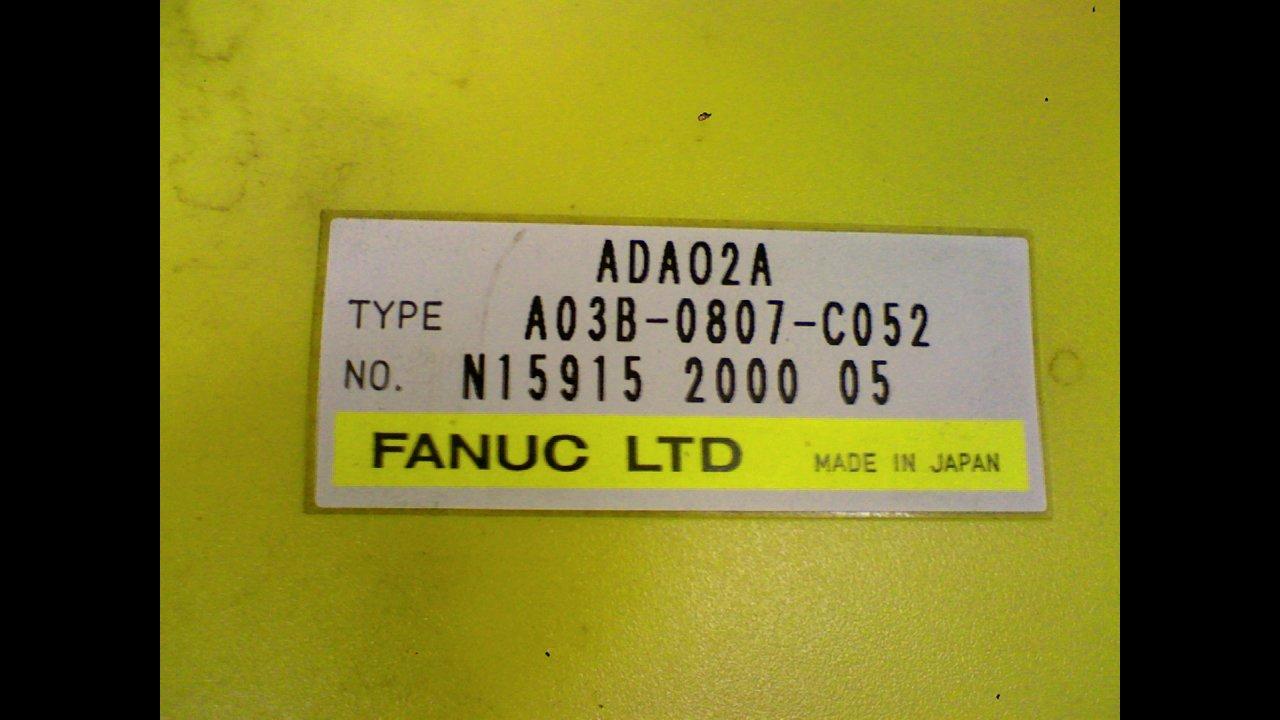 Fanuc A03B-0807-C052