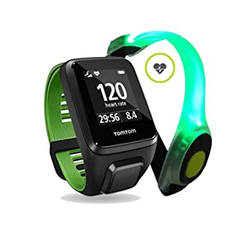 Pulso Reloj TomTom Runner 3 Cardio Large, incluye Smar.T Light Strap LED