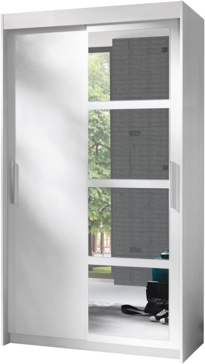 Mirjan24 Armario Nero 120, Elegante Dormitorio Armario con Espejo ...