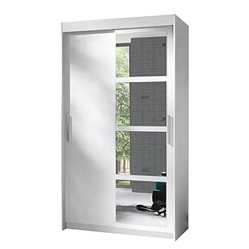 Kleiderschrank Nero 120, Elegantes Schlafzimmerschrank mit Spiegel ...