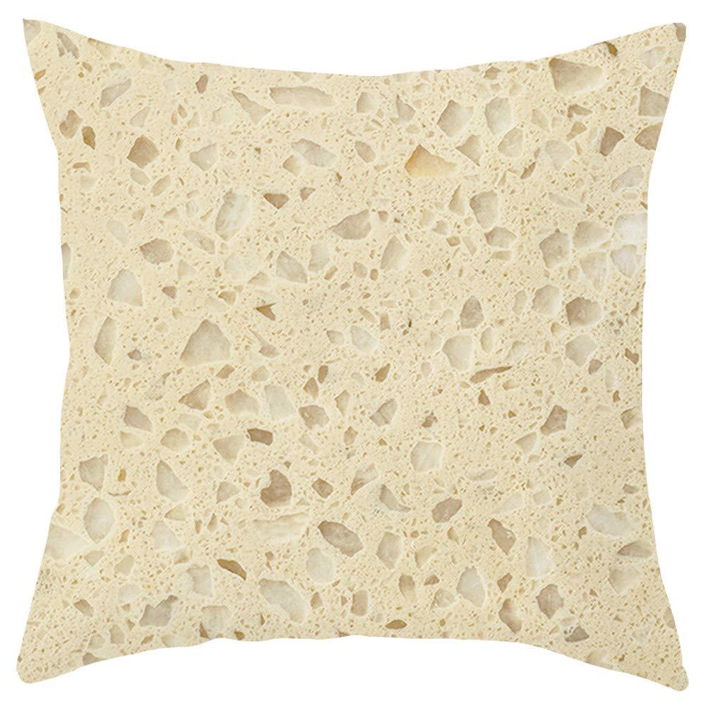 Psunrise La Almohada Gourmet Element Short Plush Pillowcase Sofa Cushion Set Home Decoration(45x45 cm, B)