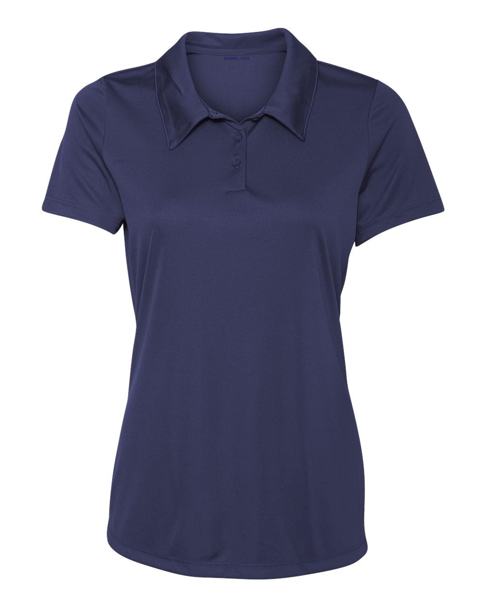 Women's Dry-Fit Golf Polo Shirts 3-Button Golf Polo's in 20 Colors XS-3XL Shirt NAVY-3XL by Animal Den