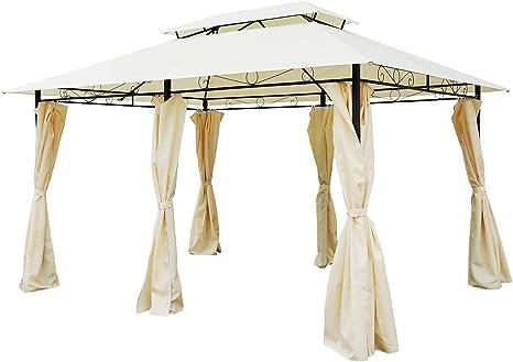 Garden Gazebo Party Tent Pivillion Shelter Curtains Sidewalls Steel 4m x 3m