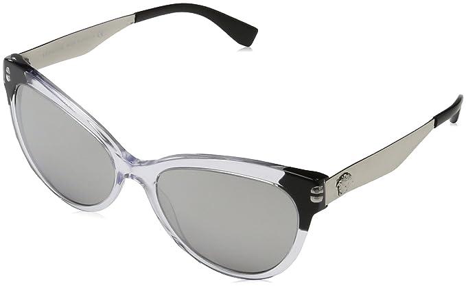 Womens 0VE4330 108/5A Sunglasses, Havana/Lightbrownmirrordarkgold, 53 Versace