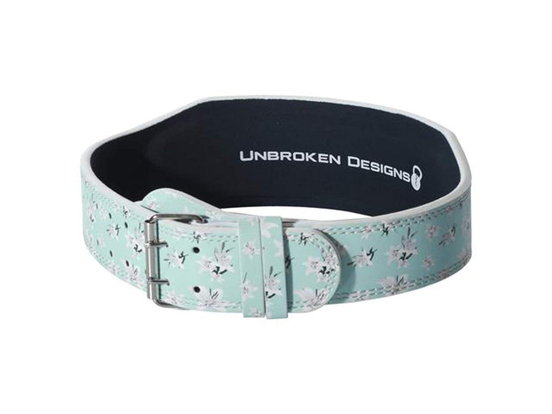 Unbroken Designs & 039;Sea Lilies& 039; Leder Gewichthebergürtel
