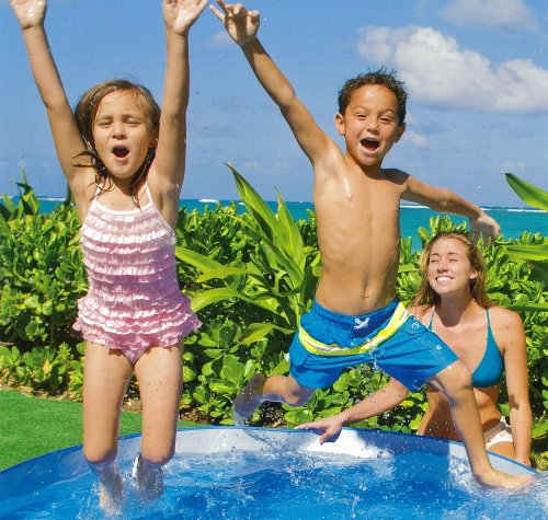 Intex Ocean Reef Snapset Inflatable Pool, 8′ X 18″, for Ages 3+