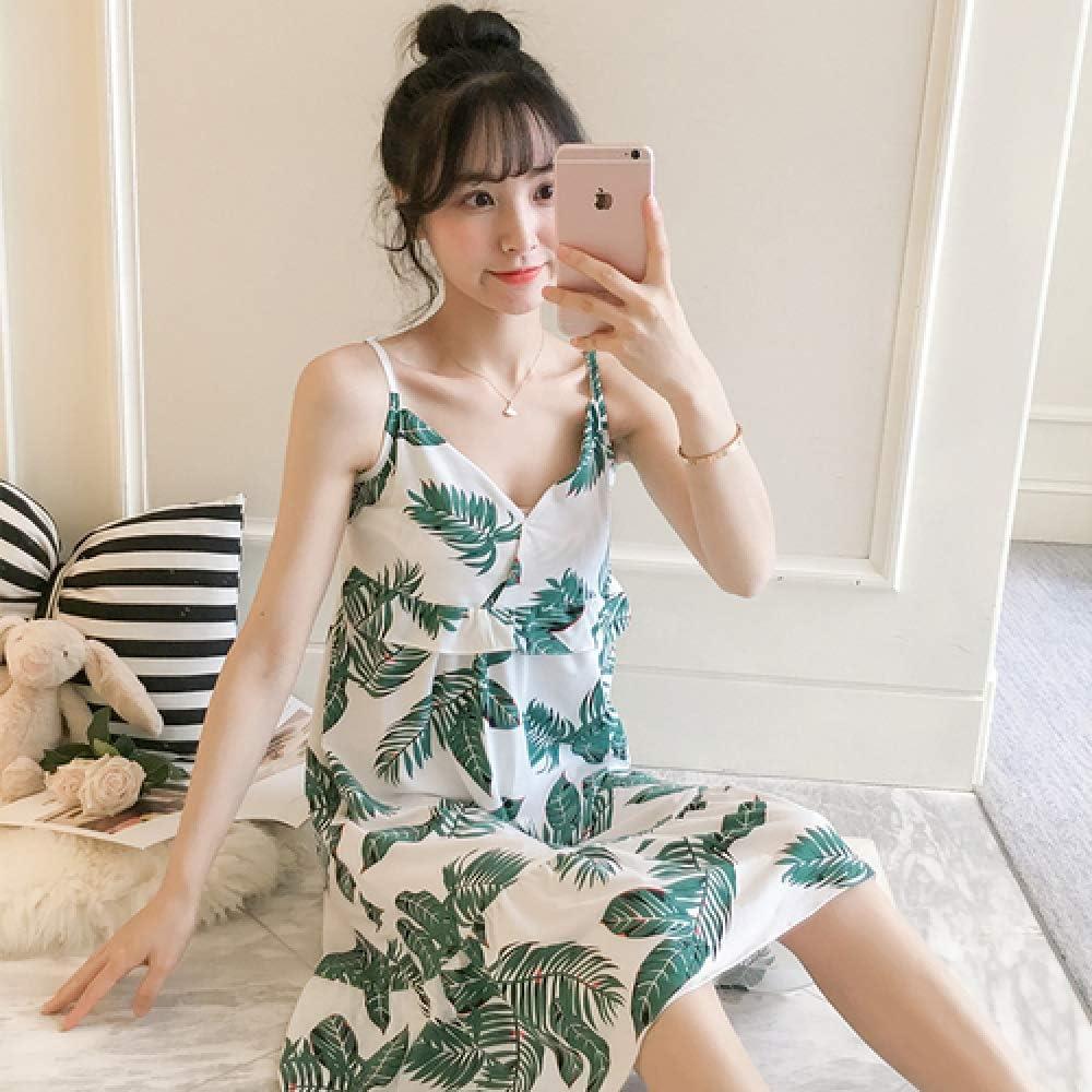 Vestido de Mujer Nuevo Pijama de Mujer Pijama de algodón de Manga Corta camisón Corto de niña con Antifaz 4 XXL: Amazon.es: Hogar