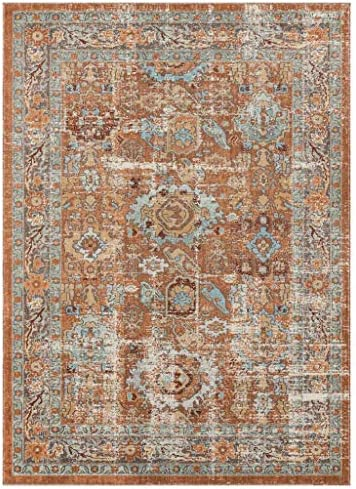 Luxe Weavers Kingsbury Collection Abstract 9×12 Oriental Brick Area Rug