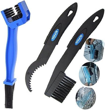 AGGER - Juego de cepillos de limpieza para cadena de motocicleta y ...