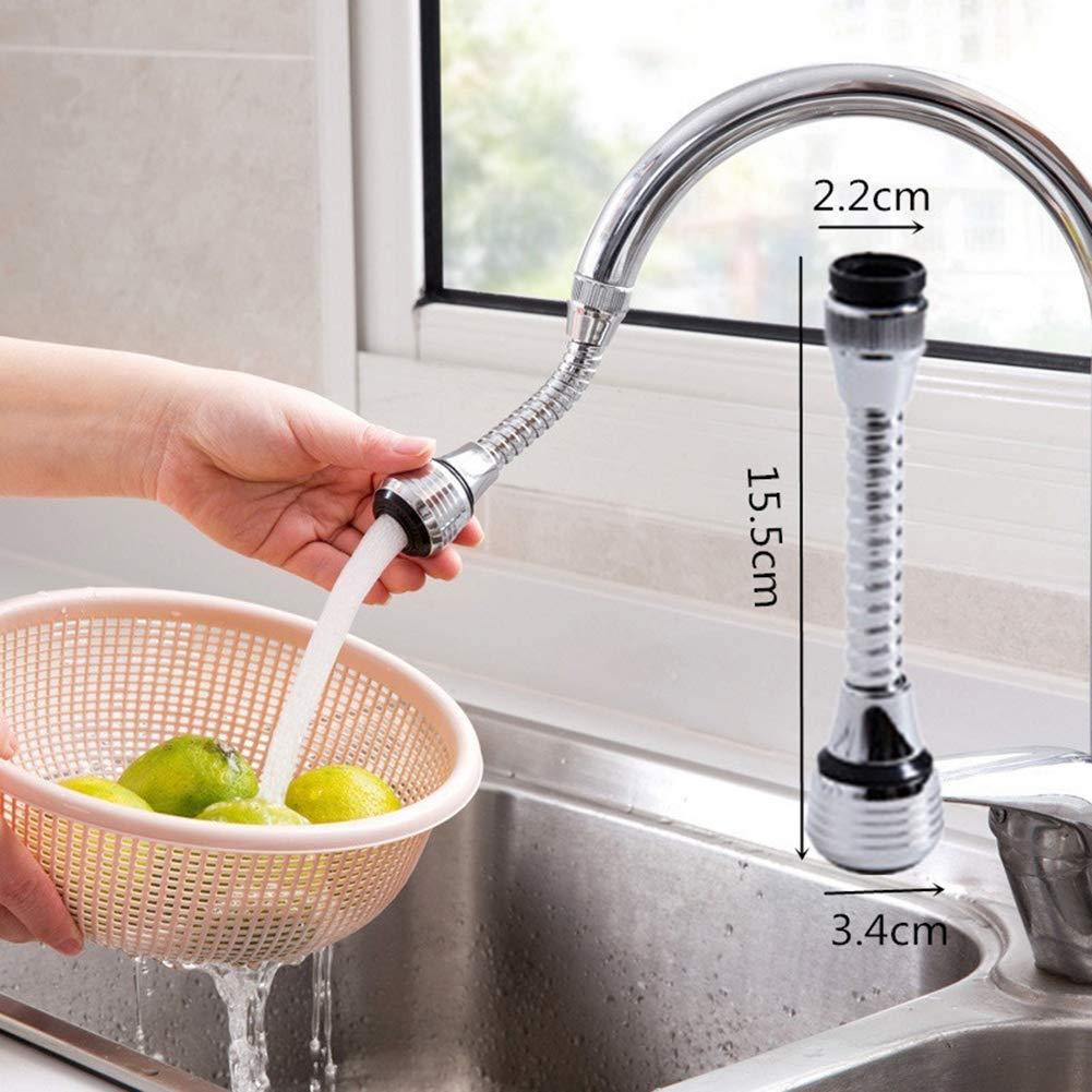 Verl/ängerung Filterspr/üher multi Spillwassersparend WFZ17 Verstellbarer Wasserhahn-Regler Wasserhahn-Ventil