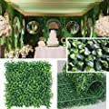 "Petgrow Realistic & Thick Artificial Hedge Boxwood Fence Privacy Screen Panels 20""x20"", UV Protection Fresh Faux Foliage Backdrop Wall Decor for Indoor Outdoor"