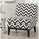 Cheap Safavieh Mercer Collection Armond Accent Chair, Black and White