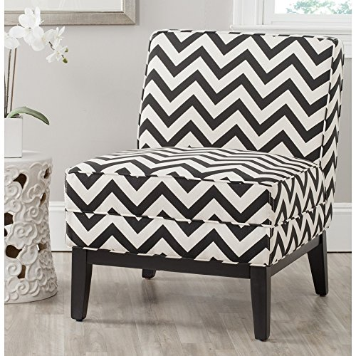 (Safavieh Mercer Collection Armond Accent Chair, Black and)