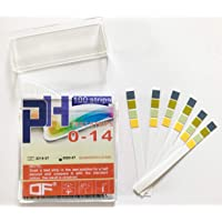 100pcs ph0-14 PH Test Paper Strips for Acidic and Alkaline, for test Aquarium water, Drinking Water, Cosmetic, Fruit, Body PH level Test