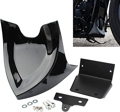 Gloss Black Twinyan Motorcycle Front Chin Spoiler Fairing Mudguard Cover for Harley Sportster XL883 XL1200