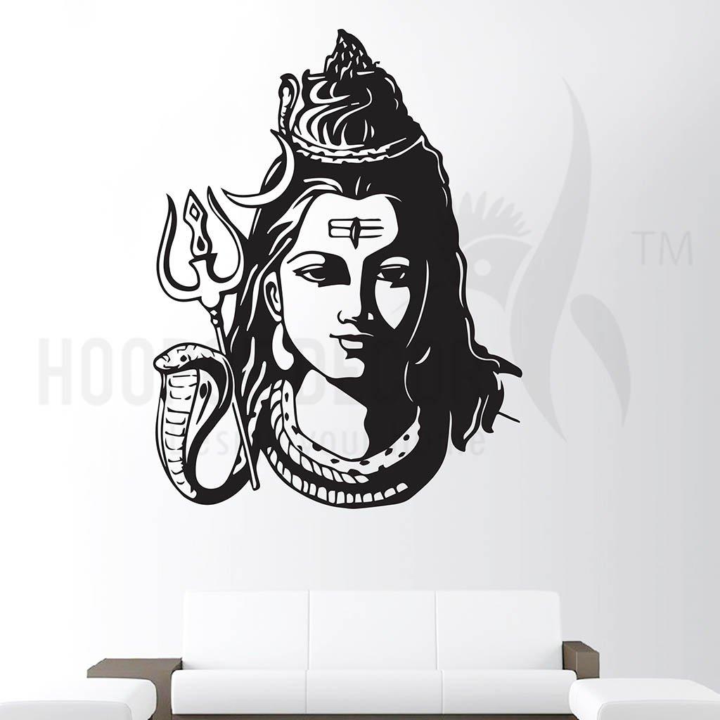 6578a51ba42 Buy Hoopoe Decor  Lord Shiva Face  Wall Sticker (Vinyl