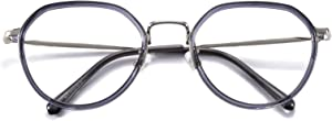 Tuxiansen's Blue Light Blocking Computer Glasses - Anti Eyestrain/Filter Ray Lens, Office Working Glass (T8212 C8)