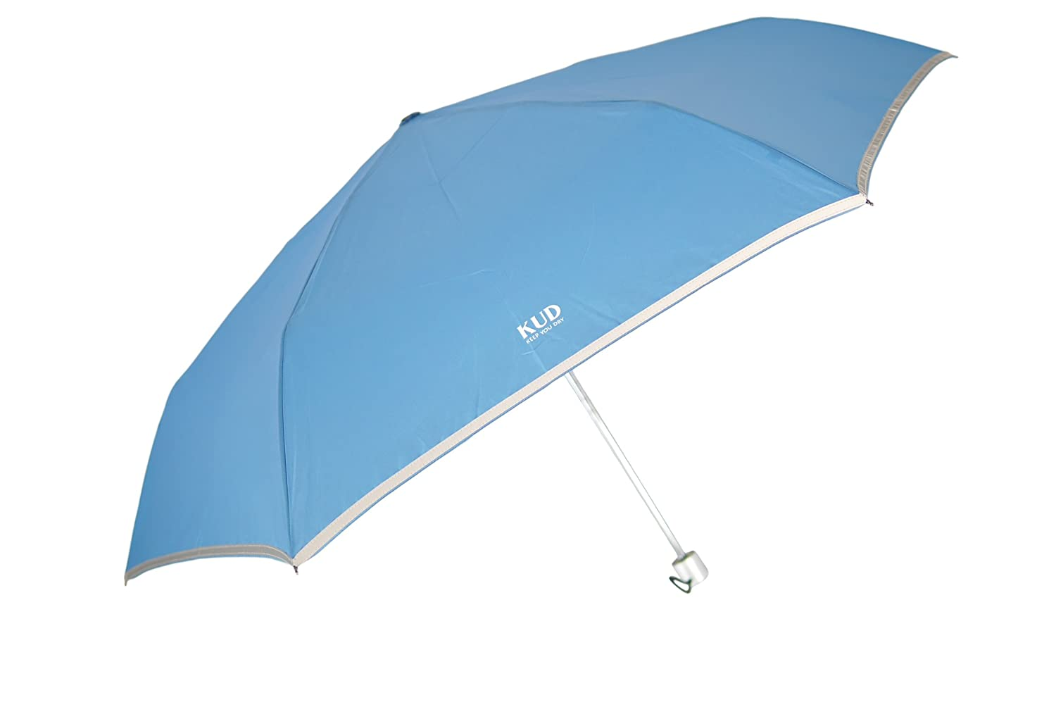KUD Lightweight Compact travel umbrella with 50 inch Arc large coverage