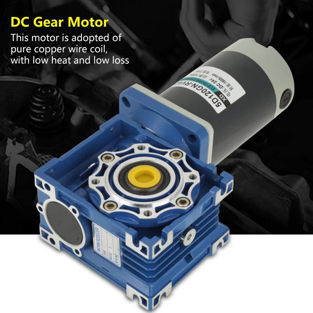 DC 12V//24V 120W RV40 Worm Gear Motor Speed Adjustable CW//CCW with Self-Locking Motor 24V