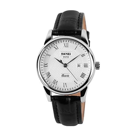 resistente al agua reloj de men/Puntero inglés relojes el viento/ calendario de ocio reloj-D: Amazon.es: Relojes