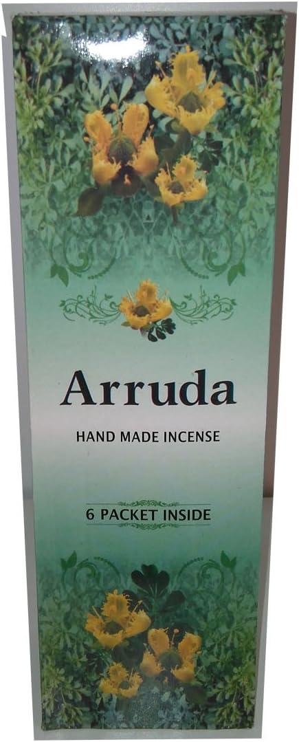 Andrea Collection - Incienso Ruda, 6 paquetes de 20 varillas c/u