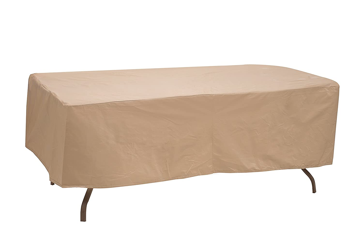 Protective Covers 1155-TN Oval/Rectangle Table Cover, Weatherproof, 48in x 84in, Tan