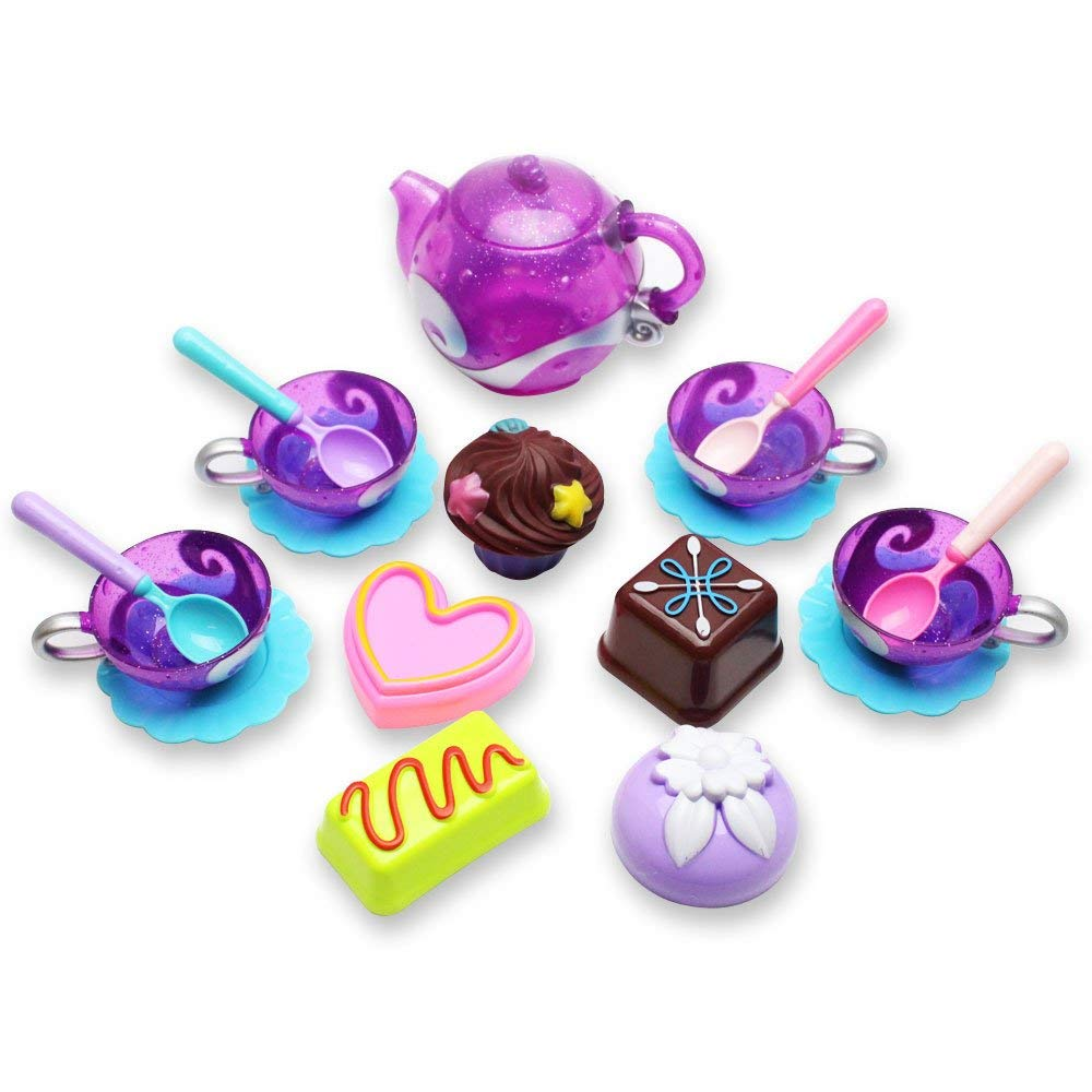 18 Pieces Kids Playing House Set Toys Kitchen Tea Pot and Cup Cakes For Indoors, Outdoors, Bath Time (B11847)~WE Pay Your Sales Tax