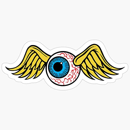 Amazon Com Deangelo Flying Eyeball Stickers 3 Pcs Pack Kitchen Dining
