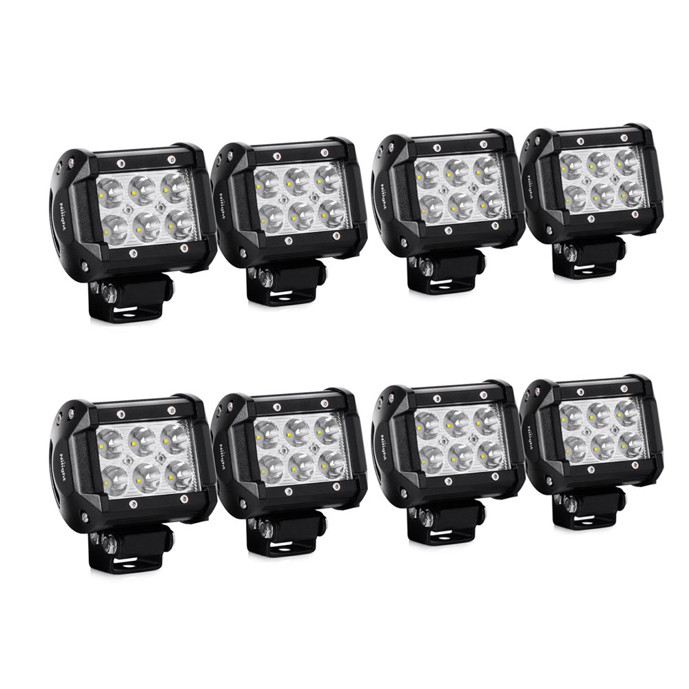 Amazon nilight led light bar 8pcs 18w 1260lm spot led pods amazon nilight led light bar 8pcs 18w 1260lm spot led pods driving fog light off road lights bar jeep lamp2 years warranty automotive aloadofball Gallery