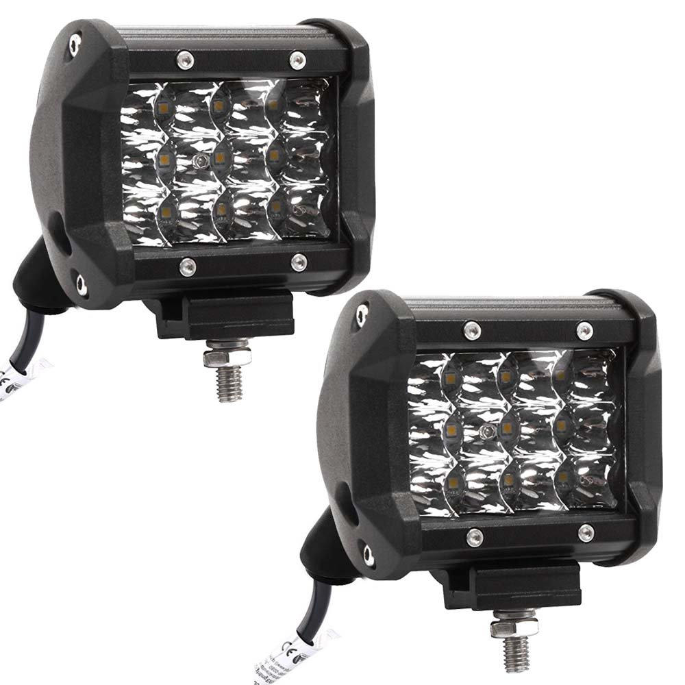 LARS360 /® 48W Travail Projecteur Lampe LED Voiture Lumi/ère Phare de travail spot Flood pour SUV UTV Offroad lampes de travail tracteur Pelleteuse Camion voiture 4x48W