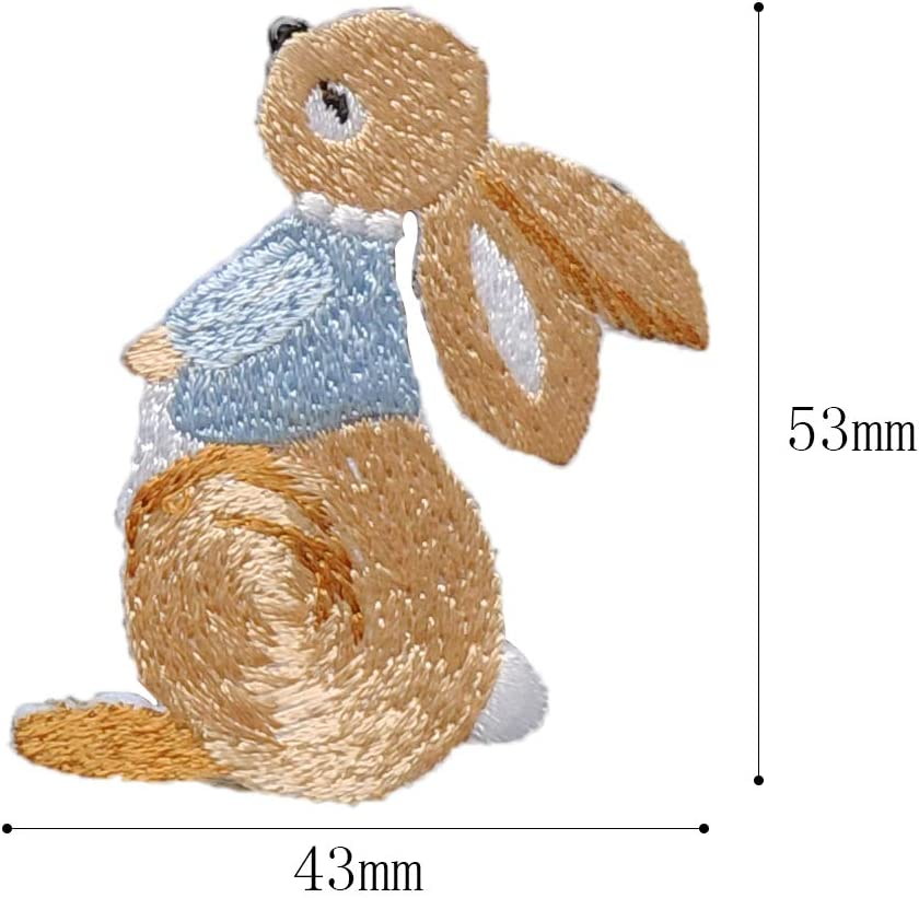 RABBITS SMALL SET OF 2 Iron On Patch Animals Children Bunny