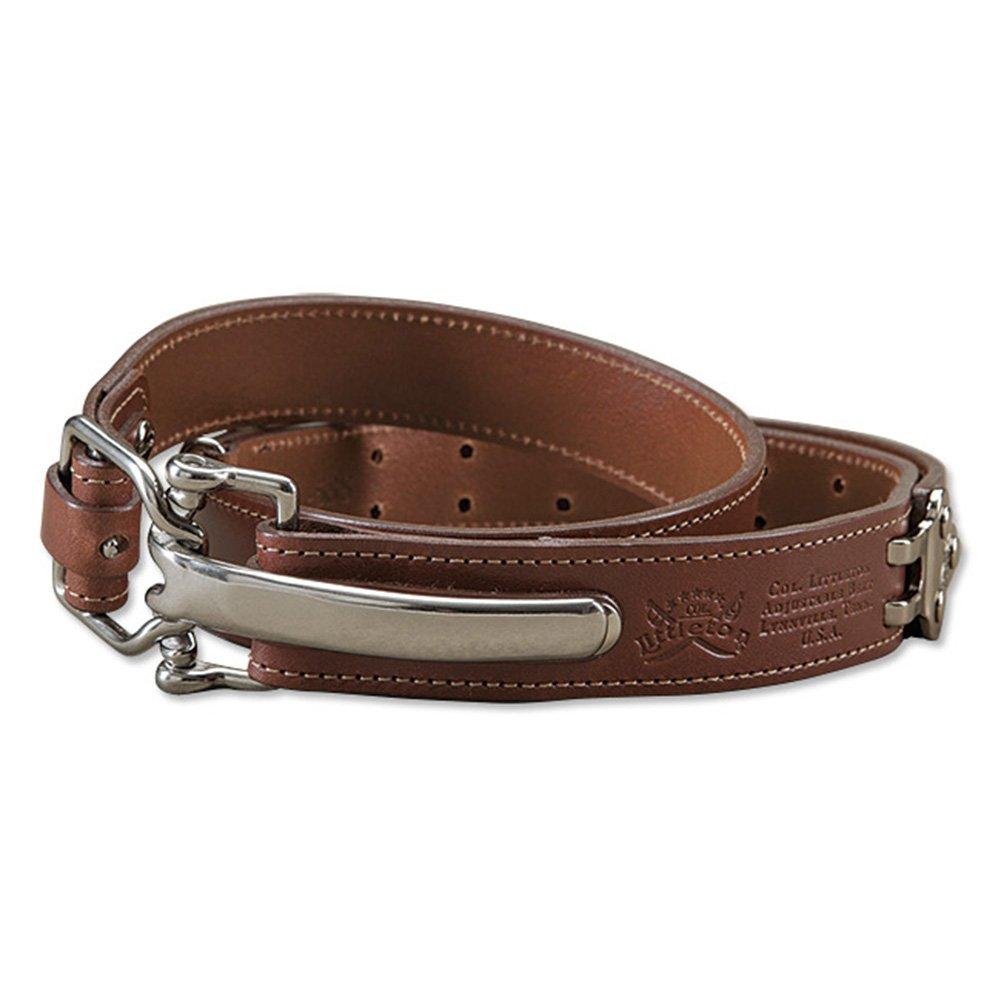 Orvis Bridle Leather Cinch Belt, Brass, Large