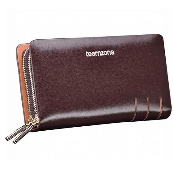 Teemzone mens genuine leather business card holder clutch bag small teemzone mens genuine leather business card holder clutch bag small s3308 brown colourmoves