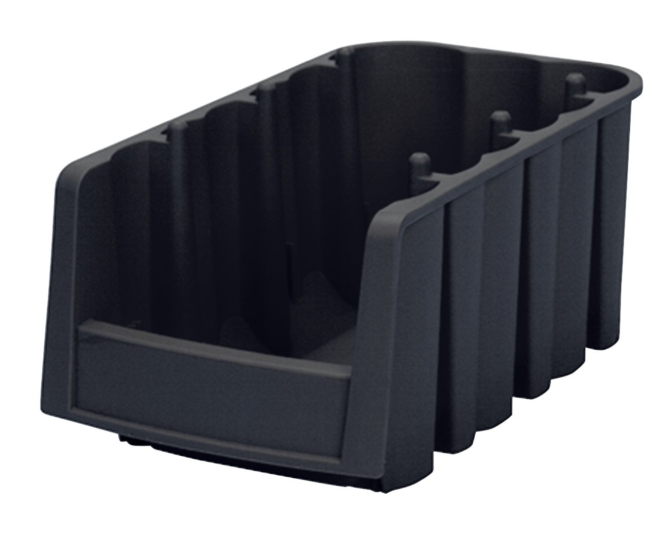 Akro-Mils 30796 Economy Stacking Nesting Plastic Storage Bin, 8-7/8-Inch Long by 6-5/8-Inch Wide by 5-Inch High, Black, Case of 10