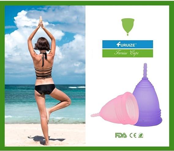 Copa Menstrual Furuize Confort con Taza de Esterilización Silicona suave de grado médico 100% Previene infecciones y fortalece el suelo pélvico. ...