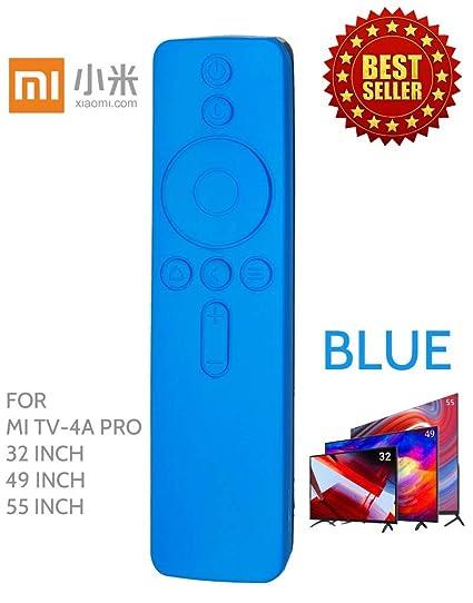 sports shoes cebdd f44e5 Anti Slip Silicone Protective Case/Cover for Xiaomi Mi TV Remote Controller  (for MI TV-4A PRO(32, 49 & 55 INCH), Blue)
