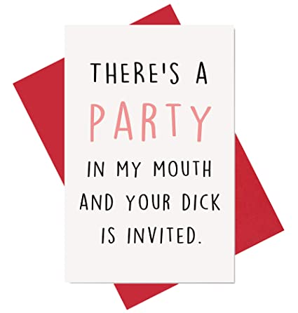 Amazon Party In My Mouth Birthday Card Naughty Anniversary