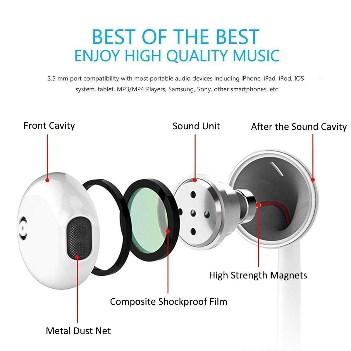 Lightning Earphones,With Microphone Earbuds Stereo Headphones and Noise Isolating headset Made for iPhone 7/7 Plus iPhone8/8Plus iPhone X Earphones,Support all iOS system by my-handy-design (Image #4)