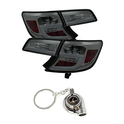 Amazon.com: Toyota Camry Light Bar LED Tail Lights Smoke Lens With Chrome Housing+Free Gift Key Chain Spinning Turbo Bearing: Automotive