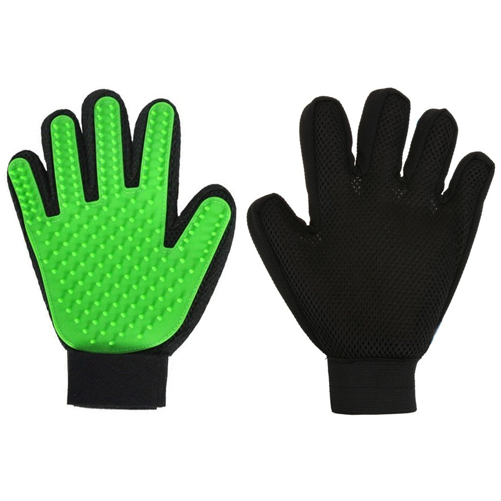 HMILYDYK Pet Grooming Massage Glove Brush, Hair Remover Brush Gloves Massage Tool for Gentle and Efficient Pet Dog Cat Grooming(1 Pcs for right hand) GUGLOVES1PCS-GREEN