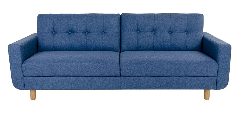 Sofa ARTE 3-Sitzer in blau Couch